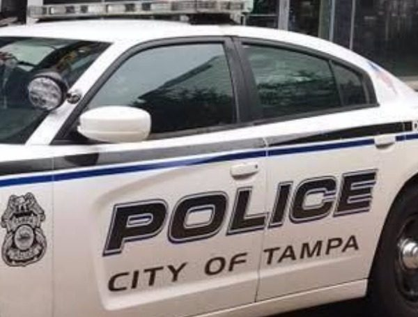 tampa police car torched