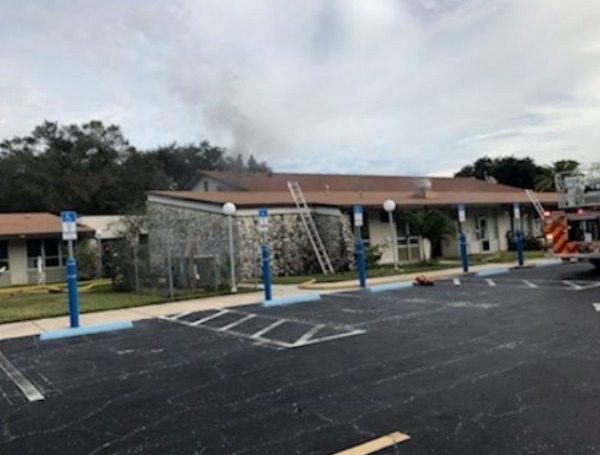 clearwater fire at church
