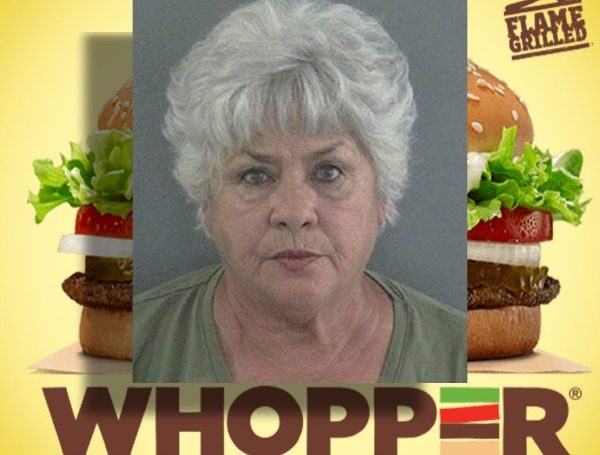 Florida Woman Arrested For Throwing A 'Whopper' At A Burger King Employee's Head, Yelling Racial Slurs Over A Tomato